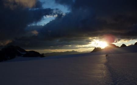 Фотографии солнце, свет, горы, снег
