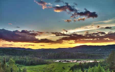 Фото пейзаж, природа, лето, закат