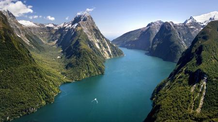 Заставки Новая Зеландия, национальный парк, горы, лес