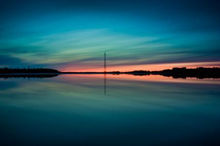 Фотографии глубина заката, вода, отражение, неба