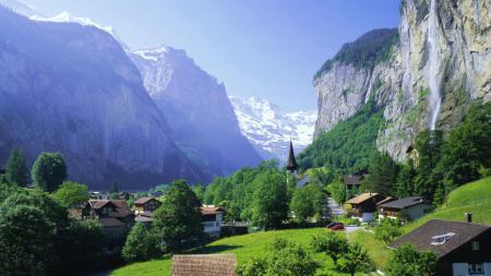 Картинки альпы, швейцария, лаутербрюнен
