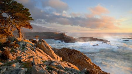 Обои калифорния, прибой, берег