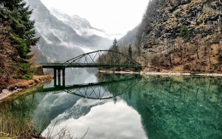 Картинки Italy, озеро, горы, мост
