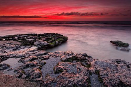 Фотографии рассвет, камни, море, небо
