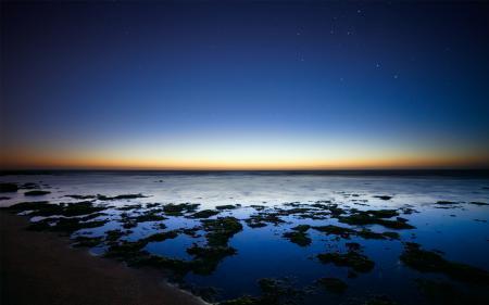 Картинки Аргентина, океан, рассвет, звезды
