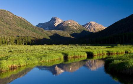 Фотографии горы, небо, лес, река
