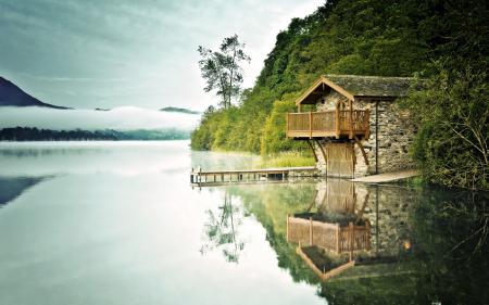 Картинки озеро, причал, лето, пейзаж