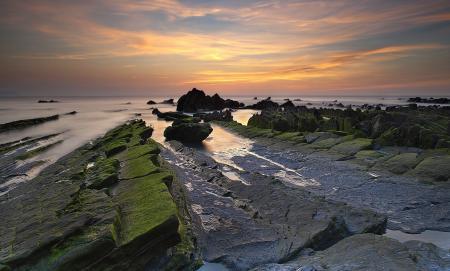Фотографии море, закат, скалы, пейзаж