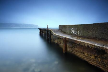 Фотографии море, пирс, ночь, пейзаж