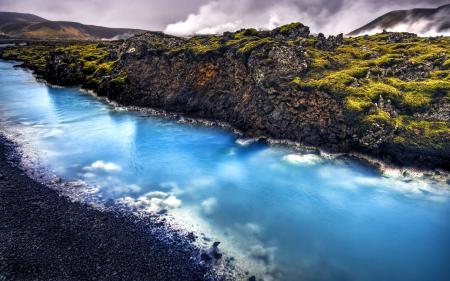 Фото Исландия, река, камни, скалы