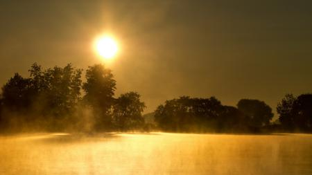 Фотографии озеро, туман, природа, пейзаж