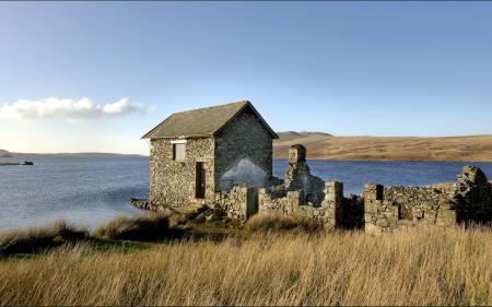 Фотографии озеро, дом, пейзаж
