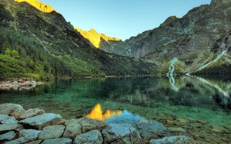 Фото озеро, горы, природа, пейзаж