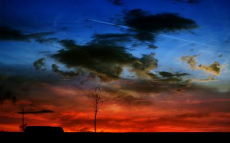Заставки ночь, облока, пейзаж