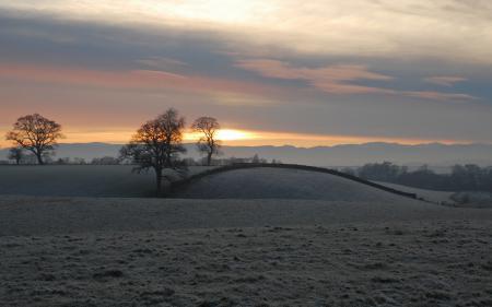 Заставки закат, поле, пейзаж
