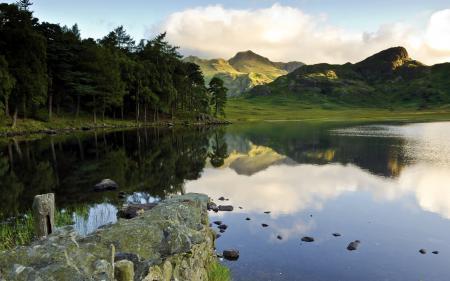 Картинки озеро, горы, пейзаж