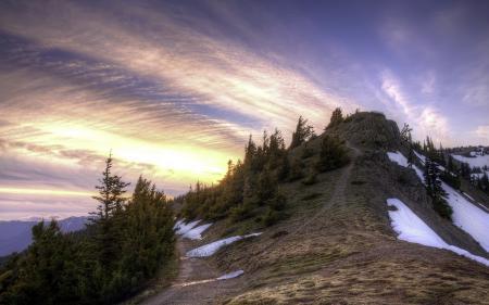Фото гора, небо, пейзаж