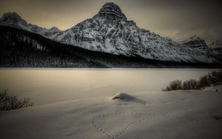 Обои горы, снег, пейзаж