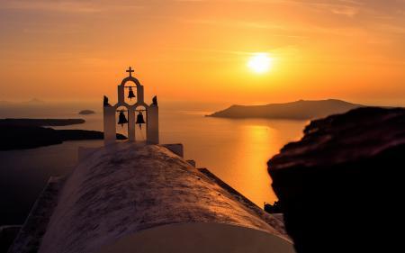 Картинки Greece, Notio Aigaio, Oia, закат