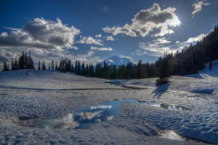Заставки Tipsoo Lake, Mount Rainier National Park, Washington, Chinook Pass