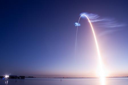 Фотографии море, вечер, пейзаж, ракета