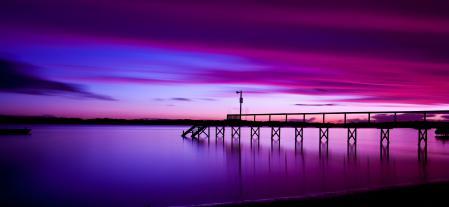 Фотографии небо, море, закат, пирс