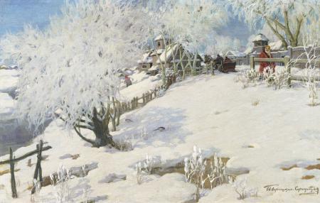 Заставки Пейзаж, картина, зима