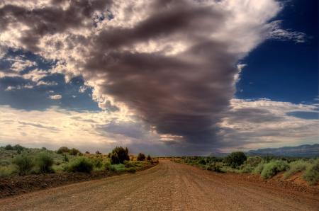 Заставки пустыня, дорога, небо, облака