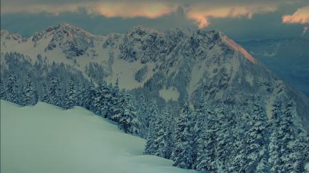 Обои пейзажи, landscape, горы, зима
