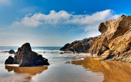 Фотографии Malibu, California, скалы, море