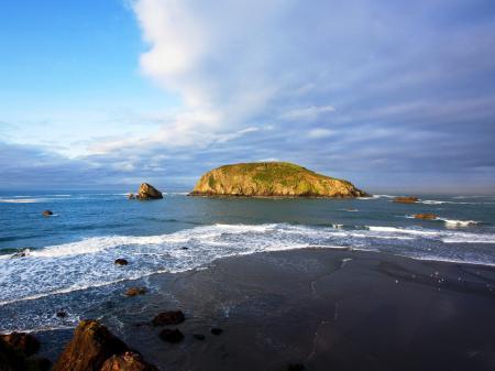 Фото остров, океан, небо