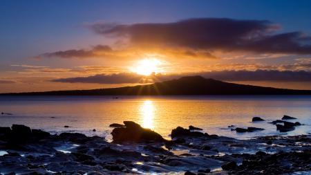Обои Природа, Пейзаж, берег, закат