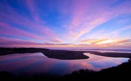 Картинки море, побережье, закат