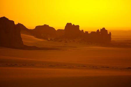 Фото пустыня, песок, жёлтый, горы