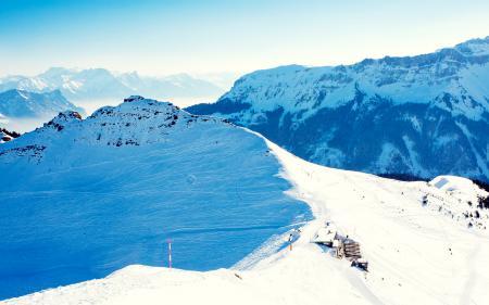 Фото пейзаж, природа, горы, зима