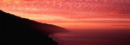 Фотографии океан, горы, закат