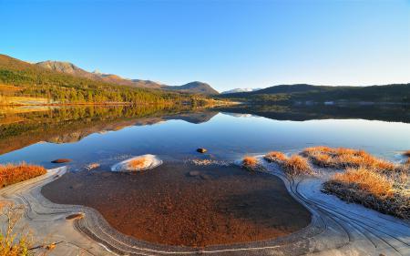Картинки Пейзаж, природа, озеро, лед