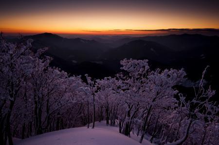 Заставки япония, рассвет, сумерки, небо