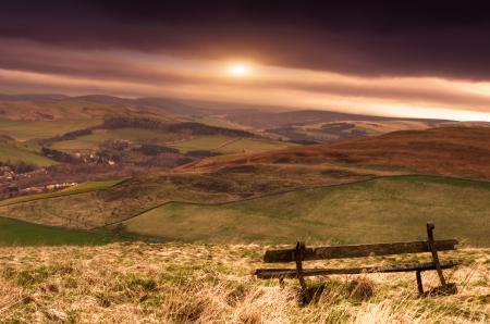 Картинки Шотландия, закат, небо, солнце