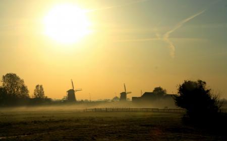 Фотографии утро, туман, пейзаж, природа