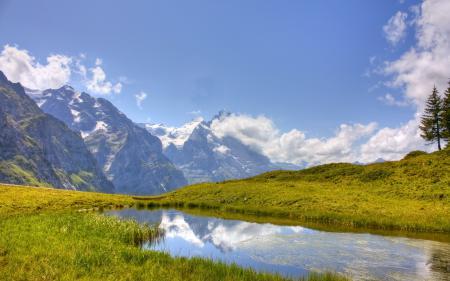 Картинки лето, горы, небо, пейзаж
