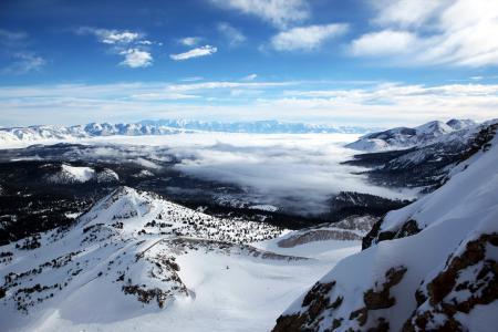 Фотографии горы, небо, снег, природа