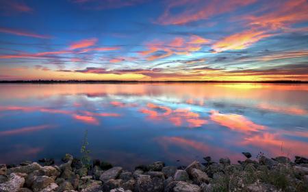 Фотографии река, закат, пейзаж