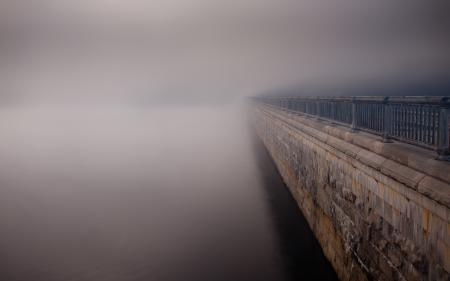 Фотографии туман, река, улица, пейзаж