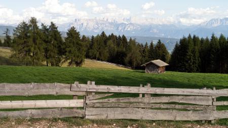 Фотографии забор, дом, горы, пейзаж