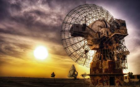 Фотографии обсерватория, закат, пейзаж, Kuwait