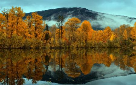 Заставки озеро, горы, осень, пейзаж