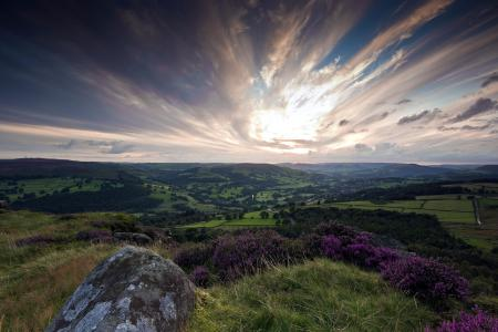 Фото гора, камень, закат, природа