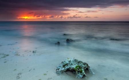 Картинки закат, пейзаж, море