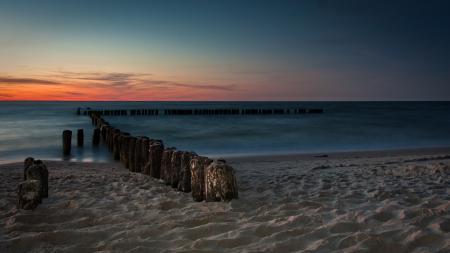 Фотографии берег, песок, море, закат